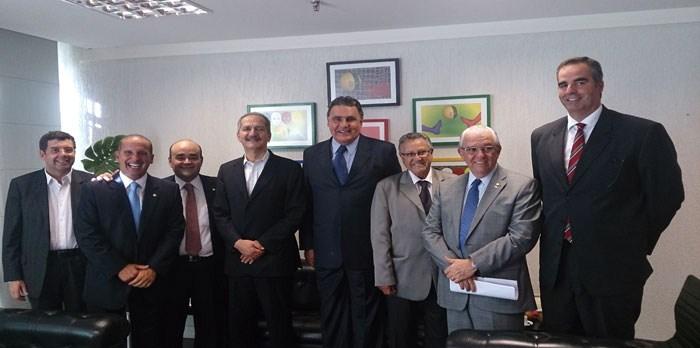 Audiência com ministro dos Esportes, Aldo Rebelo. – 26/02/14
