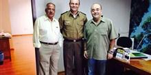 Reunião com o diretor da AMS, Antônio Tarcizo, e o Comandante da PM de Montes Claros, Coronel Cesar.
