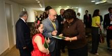Deputado Bernardo Santana com a ministra Izabella Teixeira e sua filha Stephanie em evento na FIEMG.