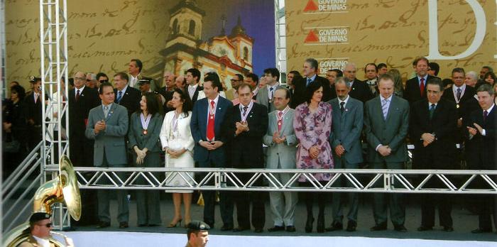 Cerimônia da entrega da Medalha do Dia de Minas. - julho 2011.