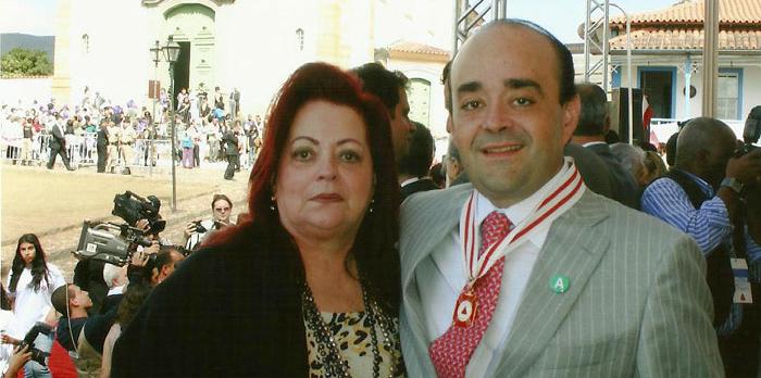Deputado Bernardo Santana com a sua mãe, Lourdes Vasconcellos.