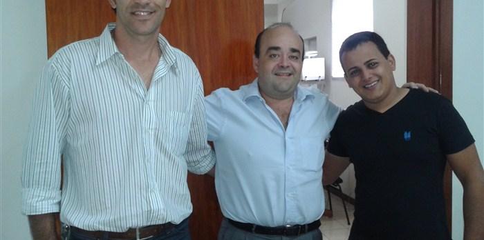Petrônio, Presidente PR Unaí, Deputado Bernardo Santana, e e assessor PR Unaí.