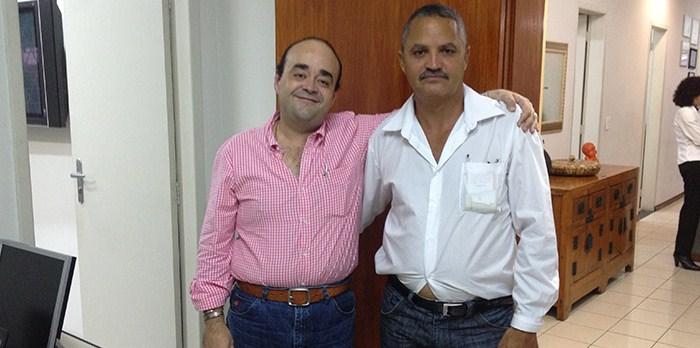 Deputado Bernardo Santana com o vereador Zé Emetério, de Chapada do Norte.