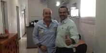 Deputado Bernardo Santana e prefeito Carlos Mário, de Francisco Dumont.