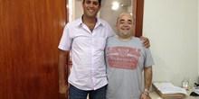 Vereador Loizinho, de Pompéu, em visita ao escritório do deputado Bernardo Santana em BH.
