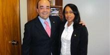 Deputado Bernardo Santana com a vereadora Bernadete, de Cabeceira Grande.