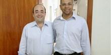 Com o prefeito Irineu, de Leme do Prado.