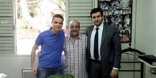 Deputado com jovens lideranças de Morro do Pilar e de Barra Longa: Diego Miranda e Caio Mário.