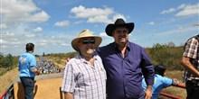 Cavalgada em Fruta de Leite. Na foto, deputado Bernardo Santana com o prefeito Nixon Marlon.