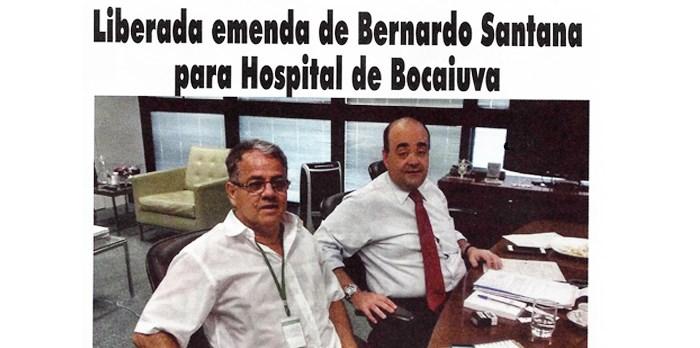 Jornal Bocaiúva Em Notícias:  Liberada emenda de Bernardo Santana para Hospital de Bocaiúva