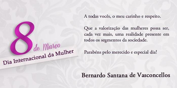 Bernardo Santana homenageia mulheres em seu Dia Internacional