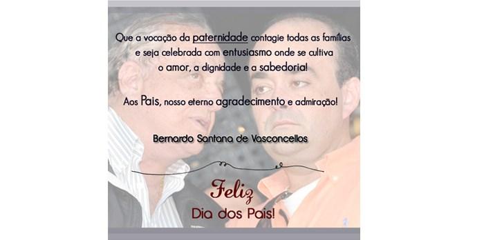 Bernardo Santana deseja um Feliz Dia dos Pais!